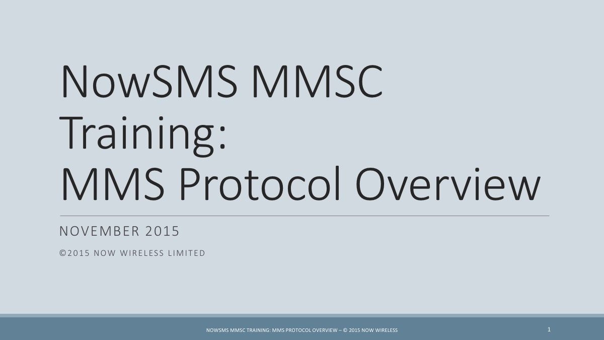 MMS Protocol Overview