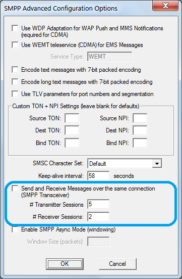 Configure Multiple SMPP Sessions