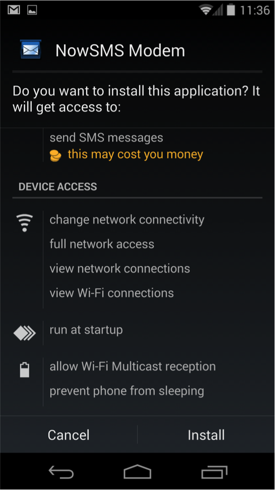 NowSMS Modem Android App – Installation Options | NowSMS